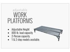 One Step Adjustable Work Platforms