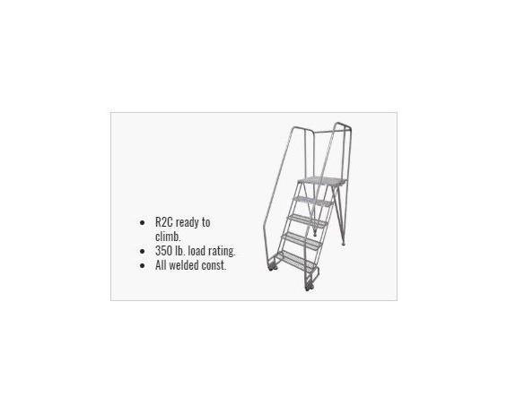 Straddle Base TILTNROLL LADDERS - Powder Coated Steel