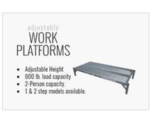 SERIES 1AWP Adjustable One Step Work Platforms