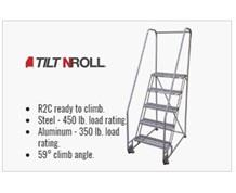TILTNROLL LADDERS - Stainless Steel